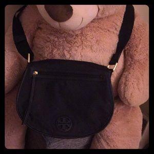 Tory Burch Black Nylon Messenger Bag